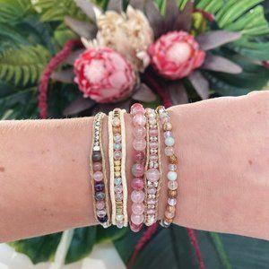 Lotus And Luna Jewelry - Violets Are Blue Single Wrap Bracelet